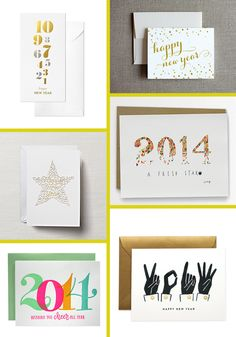 new year cards.