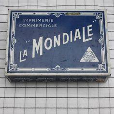 Boite Imprimerie commerciale LA MONDIALE. / Le Grenier de Ninon