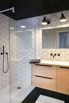Bathroom Vanity Dark Wood Modern Ideas For 2019 New Bathroom Ideas, Bathroom Tile Designs, Wood Bathroom, Bathroom Design Small, Bathroom Flooring, Bathroom Inspiration, Bathroom Interior, Modern Bathroom, Bathroom Closet