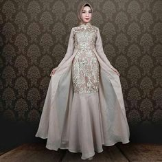 Dress Hijab Wedding Abayas 67 Ideas Source by dress hijab Dress Muslim Modern, Kebaya Modern Dress, Kebaya Dress, Dress Pesta, Muslim Dress, Model Kebaya Modern Muslim, Model Kebaya Brokat Modern, Dress Brokat Modern, Hijab Gown