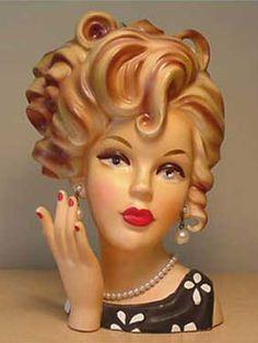 Collectible Lady Head Vase