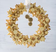Stained glass cookie wreath