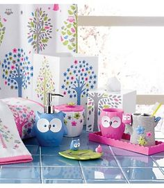 Bath Kassatex Bambini Owls Bath Accessories Set Resin Presh For Little Girls Bathroom Www