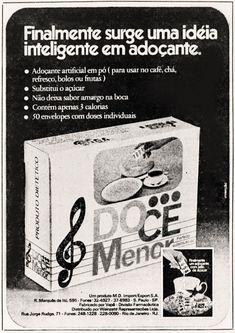 Anúncio Doce Menor - 1975