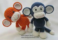 смешная обезьянка амигуруми описание