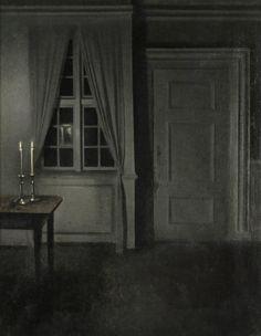 Interior with Two Candles  -  Vilhelm Hammershøi  1904  Danish 1864-1916
