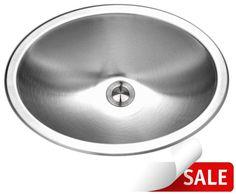"Houzer CHT-1800 Medallion 17-1/2"" Single Basin Drop In 18-Gauge Stainless Steel Stainless Steel Fixture Lavatory Sink Stainless Steel"