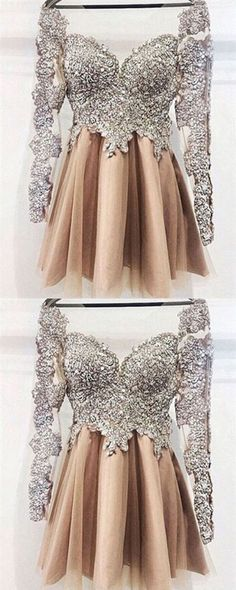 Homecoming Dresses,Homecoming Dress,Homecoming Dress,With Sleeves,Sparkly Homecoming Dresses