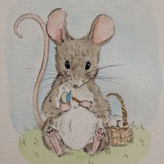 Getting a little impatient for spring activities #spring #easter #mouse #eastereggs