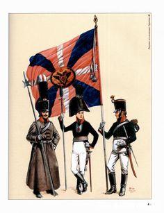 Guerres Napoléoniennes №29 de sergent, porte-drapeau de l'Pskov Régiment d'Infanterie, 1813.