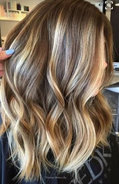 Balayage Hair Color Ideas with Blonde, Brown and Caramel Highlights