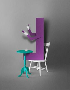 Lyst by Eiko Ojala, via Behance Eiko Ojala, Paper Art, Paper Crafts, Letter L, Typography Layout, Change, Drafting Desk, Paper Cutting, Creations