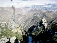Palm Springs Aerial Tranway -- it's a long way down!