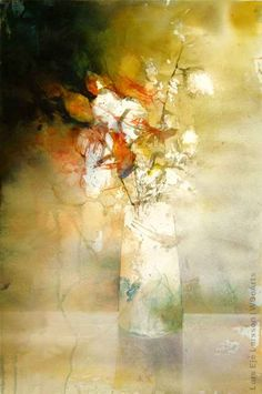 102 Watercolor Paintings By Swedish Artist Lars Eje Larsson Watercolor Artists, Abstract Watercolor, Watercolor And Ink, Watercolor Flowers, Watercolor Paintings, Watercolours, Abstract Flowers, Painting Inspiration, Flower Art