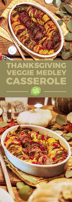 Super easy and healthy Thanksgiving side dish casserole with zucchini, eggplant, and sweet potatoes   More Fall recipes on blog.hellofresh.com