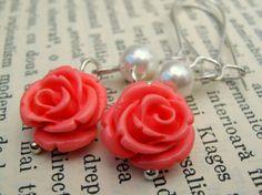 emberglow rose earrings