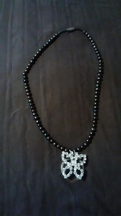 Glass Studded Butterfly Necklace by SustainableJewellry on Etsy