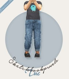 Sketchbookpixels Tuc 3T4 jeans for your toddlers by Simiracle for The Sims 4