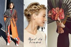 Mood da Semana - robe, trança, arranjo floral