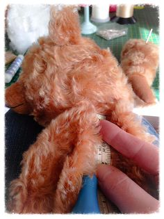 Collectible mohair teddy bears hand made and designed by UK bear artist Paula Carter