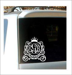 Princess Carriage Monogram Decal Car Decal by CustomVinylbyBridge