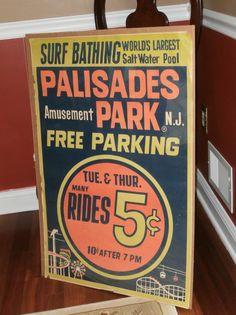 Palisades Amusement Park Travel Poster 35x23