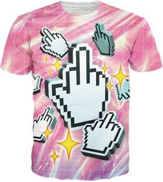 Flip the bird to all those internet trolls out there while keeping up your aesthetic with this fabulous, all-over-print Click This T-Shirt.