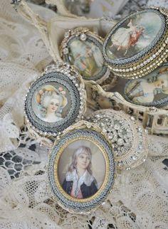 """katysflowersandantiques: """" Antique little portrait boxes Source """""""