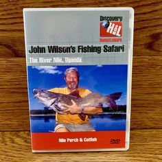 John Wilsons Fishing Safari dvd The River Nile Uganda Watched Once Superb Cond Dvds For Sale, Uganda, Safari, Fishing, Cartoons, Entertainment, River, Tv, Sports