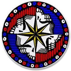 Grateful Dead Compass 2-1/4 Inch Button