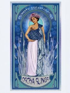 Art Nouveau Promotes Breastfeeding Art Print