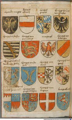 Wappen besonders von deutschen Geschlechtern Süddeutschland ?, 1475 - 1560 Cod.icon. 309  Folio 64v