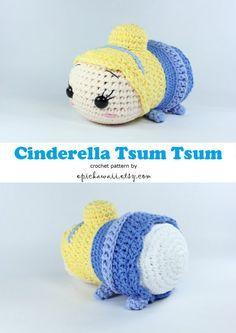 PATTERN: Cinderella Tsum Tsum Crochet Amigurumi Doll by epickawaii
