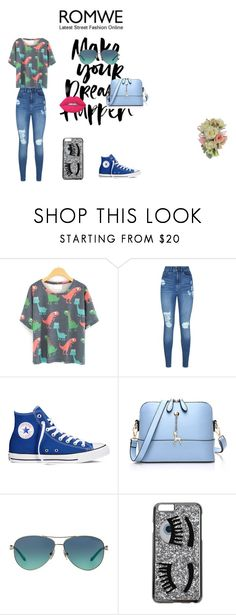 """""""Untitled #33"""" by adna-avdakovic ❤ liked on Polyvore featuring Lipsy, Converse, Tiffany & Co., Chiara Ferragni and Lime Crime"""
