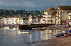 Boats on Teignmouth Back Beach - Devon