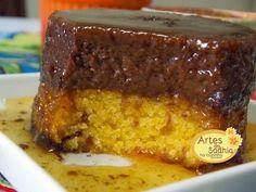Artes da Sadhia na cozinha  : Bolo de cenoura com pudim de   chocolate