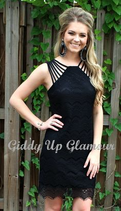 Night Like This Lace Dress in Black | $36.95 | www.gugonline.com
