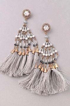 Marble Tassel Earrings  earrings Cute Jewelry 7410bb2dbdec