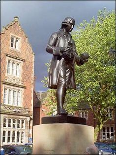 The death on this day 3rd January, 1795, of  English potter and grandfather of the naturalist Charles Darwin. The pottery that Wedgwood founded became one of the most famous in the world. Statue of Josiah Wedgwood (1730-1795) Stoke-on-Trent