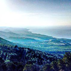 View from Kantara Castle, Kyrenia Mountains, North Cyprus