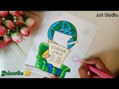 Save from Corona Virus Drawing for Drawing Competition/Easy Drawing of Corona virus se kaise bache How to Draw Save Water Save Life for Beginner. Drawing For Beginners, Drawing For Kids, Colorful Drawings, Cool Drawings, Save Earth Posters, Earth Drawings, Drawing Competition, Story Drawing, Easy Drawing Steps