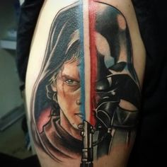 Anakin Skywalker Vader Tattoo by Tattoo by Piero Tat-twin Bockos Movie Tattoos, Life Tattoos, Body Art Tattoos, Sleeve Tattoos, Cool Tattoos, Star Wars Tattoo, War Tattoo, Anakin Vader, Anakin Skywalker