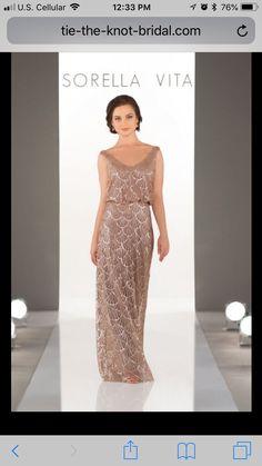21fdfa49511 A flirty V-neckline gives this Nouveau Sequin bridesmaid dress an  effortless feeling