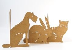 Domestic Animals - lasercut cards by Skinny laMinx.