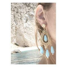 Turquoise earrings silver gold plated #antoniakarra