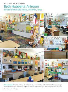 Beth Hubbert's Artroom, Neblett Elementary School, Sherman, Texas, #artroom