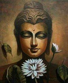 Buddha Drawing, Buddha Artwork, Buddha Wall Art, Budha Painting, Ganesha Painting, Art Zen, Buddha Face, Indian Art Paintings, Hindu Art