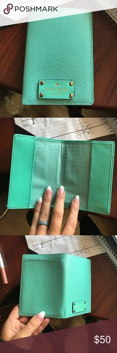 Kate spade passport holder Teal green color never used. Make offer kate spade Accessories