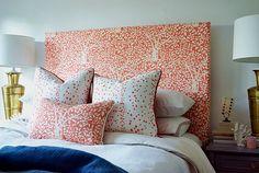 China Seas Arbre de Matisse Reverse headboard and pillows with Rio pillows