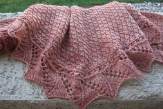 This Crescent Shawl with triangular accents is just lovely for an autumn day. Free shawl knitting patterns are great for those cozy evenings by the fire. Lace-like edges and simple stitches make this pattern hard to resist.